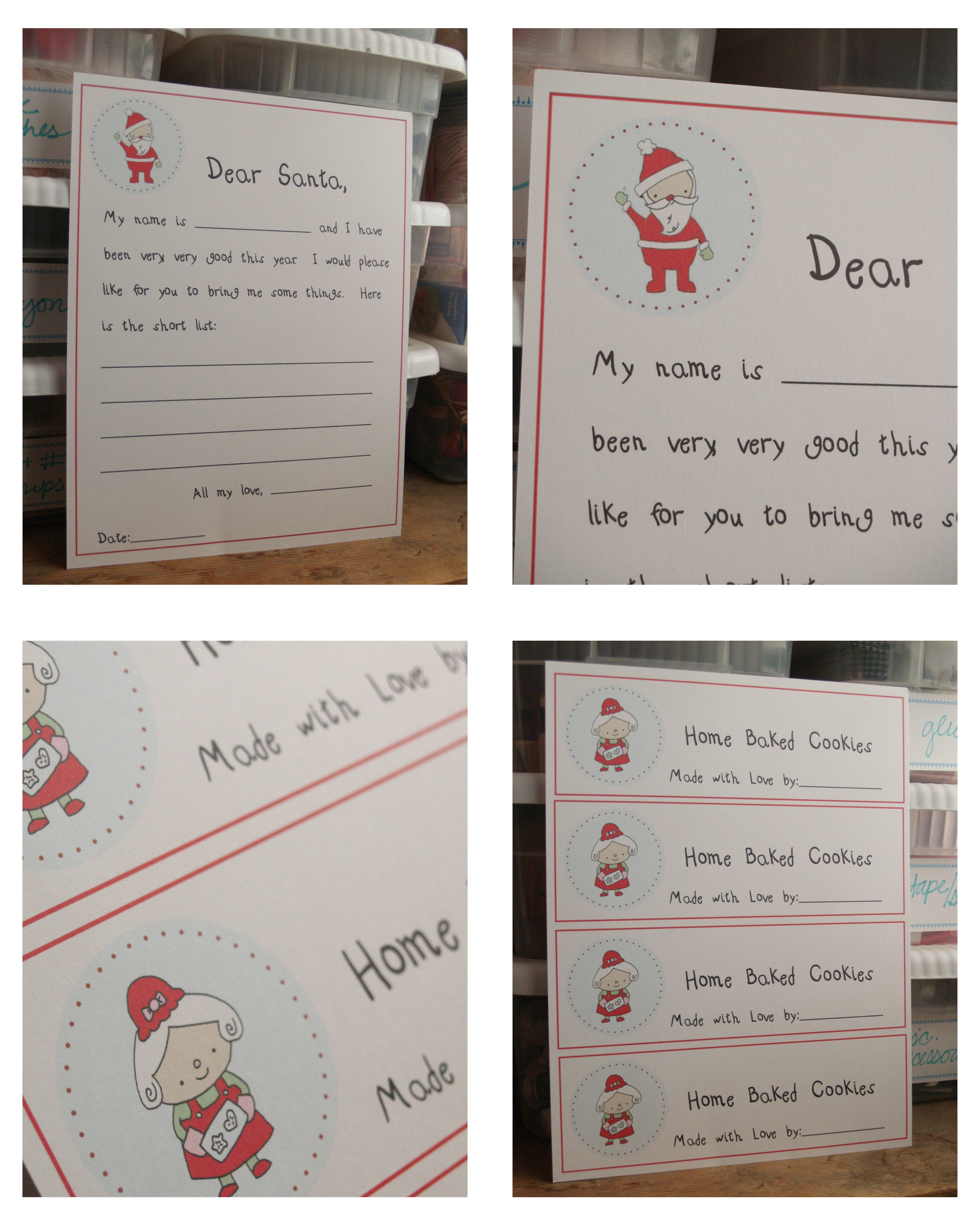 Free Christmas Printables  Letter To Santa Reindeer Food  Home
