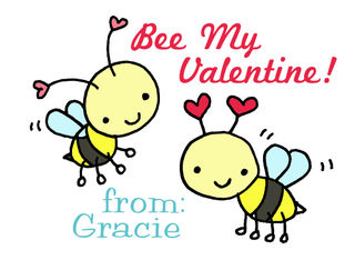 Gracies valentine bees