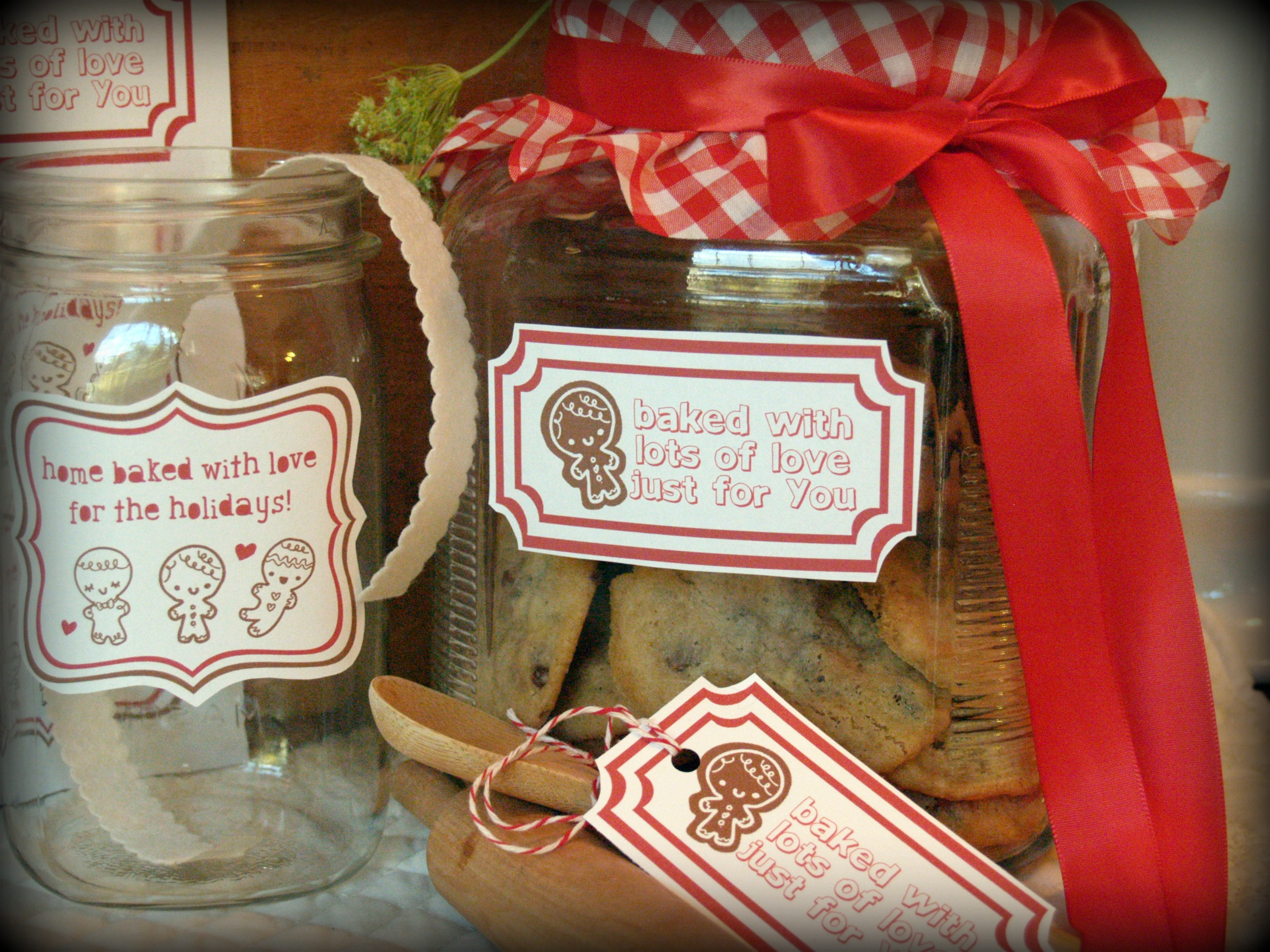 Free free printable baking labels and gift tags for christmas with ginger labels 1 negle Images